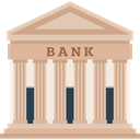Business, Money, Bank, savings, banking, Finance, Building, buildings Tan icon