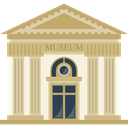 Building, buildings, temple, museum, Antique Tan icon