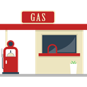 Architecture And City, Energy, petrol, gas station, gasoline, fuel, buildings Wheat icon