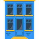 flat, house, houses, real estate, buildings, urban DodgerBlue icon