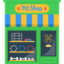 Pet Shop, buildings, real estate, Building, urban MediumSeaGreen icon
