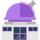 buildings, science, space, Astronomy, galaxy, observatory, telescope MediumPurple icon