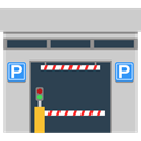 Building, Automobile, signs, buildings, sign, vehicle, Parking LightGray icon