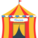 Circus, leisure, entertainment, Tent, buildings, Entertaining Goldenrod icon