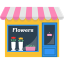 opened, Flower, commerce, buildings, store, flowers, shopping, Shop, Commercial, open DarkSlateGray icon