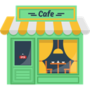 hot drink, Building, Coffee Shop, buildings, Coffee Machine, Cafe LightGreen icon