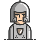 Protection, helmet, knight, people, Armour, Avatar, medieval Black icon