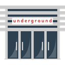 Subway, Public transport, Building, buildings, underground, Metro LightGray icon
