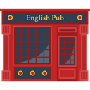 Alcohol, Alcoholic, pub, food, beer, Pint, Jar, Bar, buildings, English DarkSlateGray icon