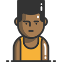 Avatar, Sports And Competition, Man, people, athletic, Sporty, Basketball Player, Boy DarkSlateGray icon