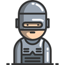 Robocop, people, police, robot, Avatar DarkSlateGray icon