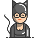 Mask, Catwoman, Superheroe, woman, people DarkSlateGray icon