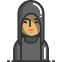 Avatars, people, hood, Avatar, Human DarkSlateGray icon