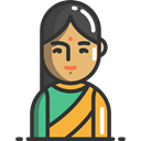 woman, India, oriental, hinduism, Hindu, people, Asian, religion DarkSlateGray icon