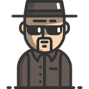 interface, people, Character, Breaking Bad, Avatar, Heisenberg DarkSlateGray icon