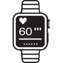 iwatch, Heart, Monitoring, Running, Applewatch, Run, watch Black icon