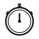 stopwatch, timing, exercise, time Black icon