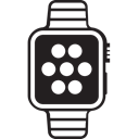Apple, iwatch, watch, Run, Running Black icon