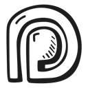 patreon, social media icons, social media, Social, hand drawn, outline Black icon