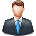 Man, person, Businessman, Client, manager DarkSlateGray icon