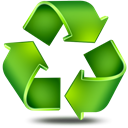 Arrow, refresh, recover, line, recycle, recycling Black icon
