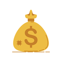banking, Money, Business, Currency, Coins, graphic, Bank SandyBrown icon