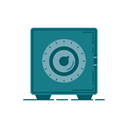 storage, lockers, Money, Bank, Business, graphic, banking Teal icon