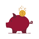 stroke, Bank, piggy, chart, graphic, card, Money Brown icon