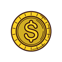 Money, coin, set, Business, line, Currency, graphic Black icon