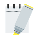 yellow, notepad, marker WhiteSmoke icon