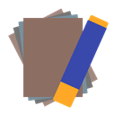 paper, sheet, Art, pastel Gray icon