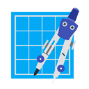 tool, Design, Trace, dividers, Compasses DeepSkyBlue icon