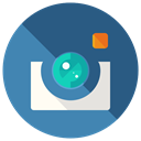 Instagram, Social, Communication, share, media, network DarkSlateBlue icon