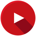 media, Social, youtube, online, video, network Firebrick icon