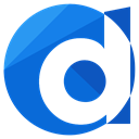 Logo, d, online, media, network, Social RoyalBlue icon
