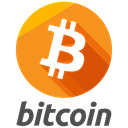payment, Finance, method, online, Bitcoin, Logo DarkOrange icon