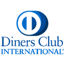 online, Finance, diners, method, international, Club, payment Black icon