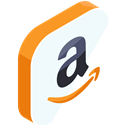 network, online, media, internet, Social, Amazon, shopping Icon