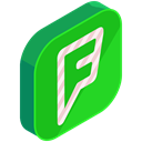 media, network, online, F, Social, internet LimeGreen icon