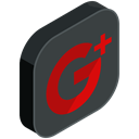 internet, media, google, online, network, Social, plus DarkSlateGray icon