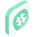 Social, media, hashtag, internet, online, network AliceBlue icon