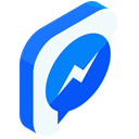 network, Chat, online, Messenger, media, Social, Communication DodgerBlue icon