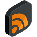 Social, Rss, online, internet, media, network DarkSlateGray icon