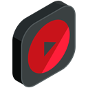 media, youtube, Multimedia, network, Social, video DarkSlateGray icon