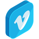 media, Communication, Social, Vimeo, network, internet DeepSkyBlue icon