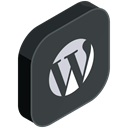 website, media, Wordpress, Social, network DarkSlateGray icon