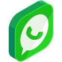Whatsapp, network, media, Chat, Social, Communication LimeGreen icon