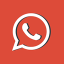 red, Message, social media, Whatsapp, network, logotype Chocolate icon