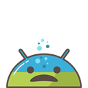 Sick, trouble, Android, mood, Emoji, ill, Mobile Black icon