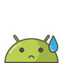 robot, Android, tear, Emoji, Mobile, sad, mood Black icon